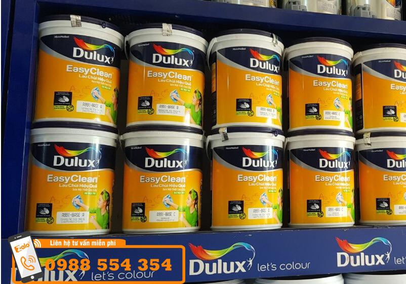 sơn dulux easyclean lau chùi hiệu quả